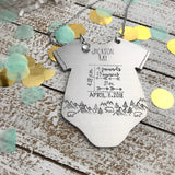 Baby Boy Personalized Ornament