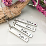 Customized Birthstone Mothers Necklace