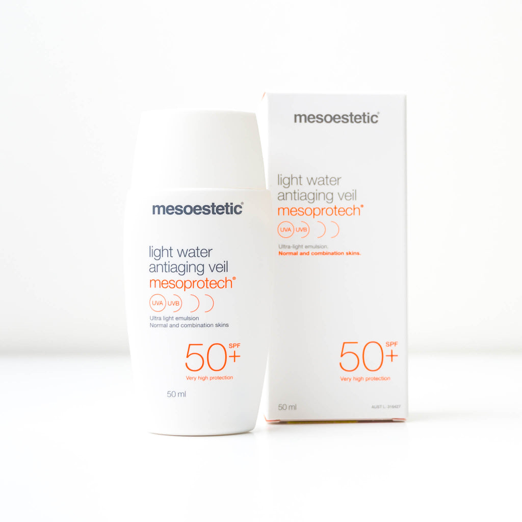 Mesoestetic Mesoprotech Light Water Antiaging Veil 50+ Sunscreen