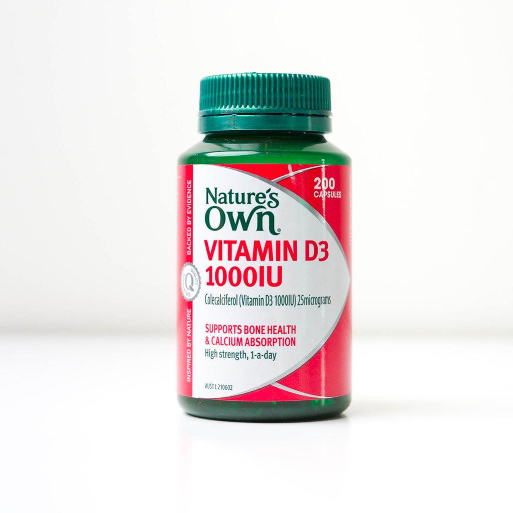 Nature's Own Vitamin D3 1000iu Supplement