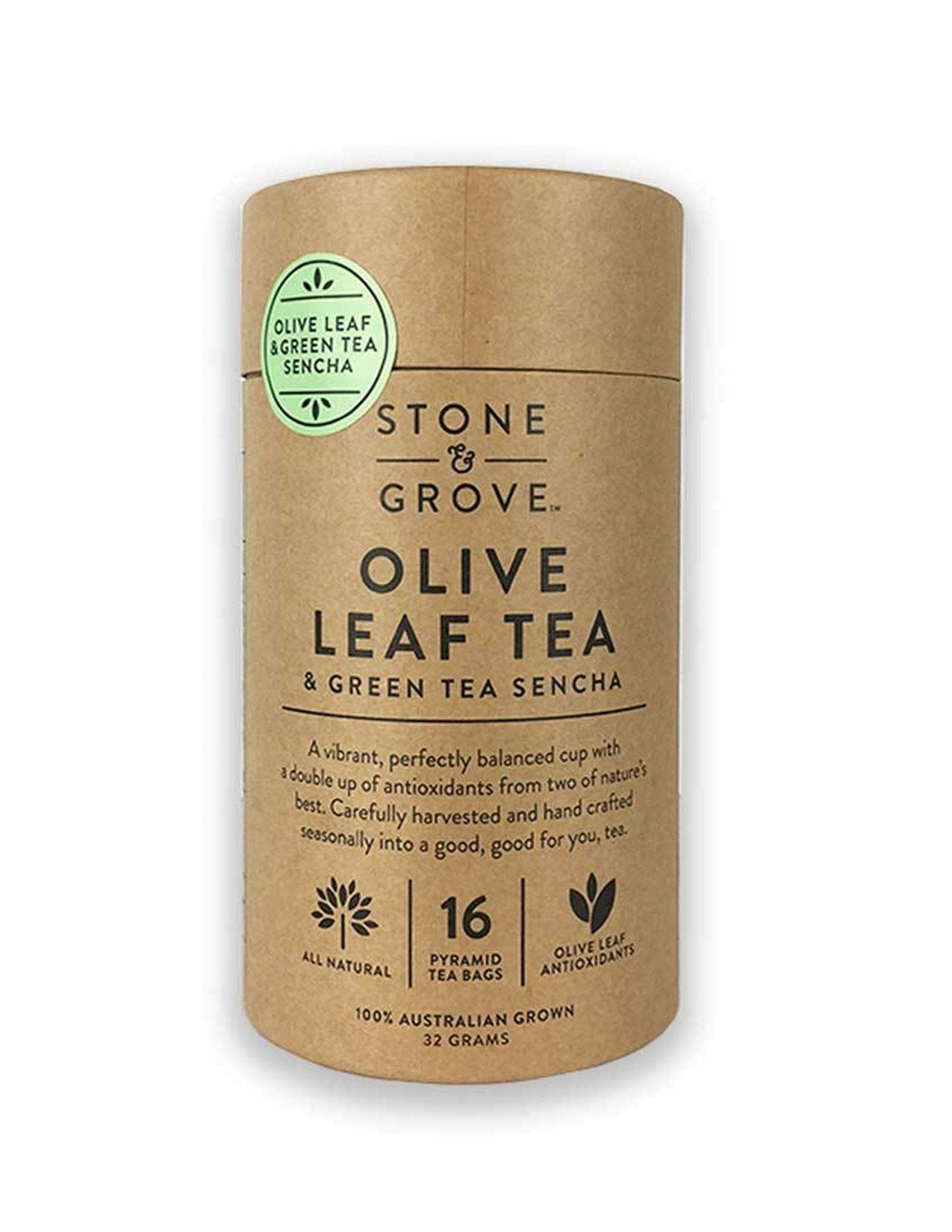 Stone and Grove Olive Leaf and Green Tea Sencha