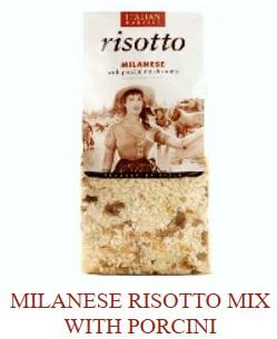 Milanese Risotto Mix with Porcini Mushrooms