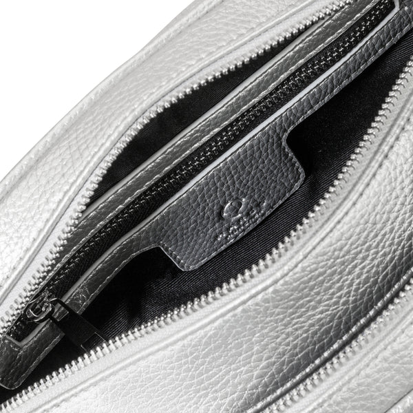 Double Zip Compact silber