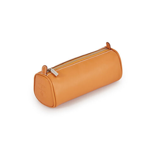 Cylindrical Zip Case Medium yellow