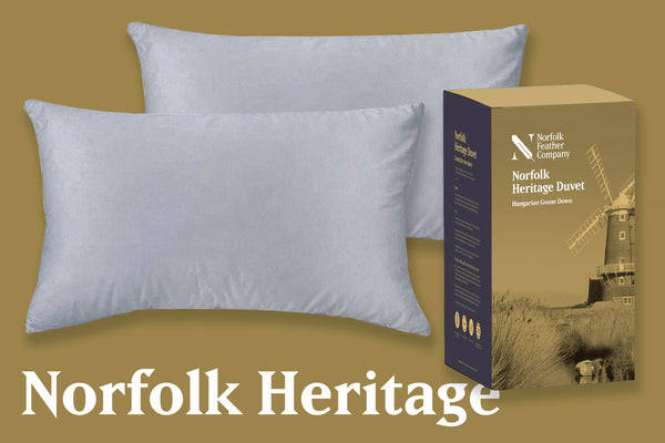 Norfolk Heritage | Pillow Pair & Duvet Set | 13.5 Tog, Princess Pillows and Heritage Duvet