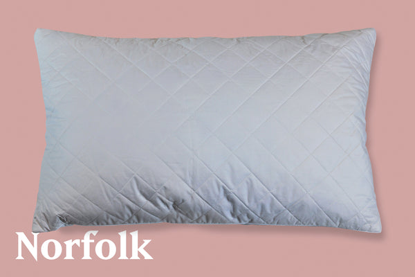 Norfolk | Quilted White Duck Feather Pillow
