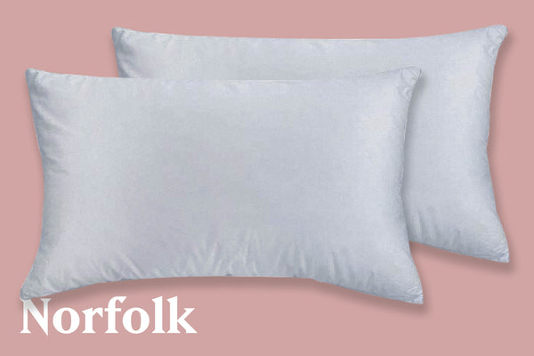 Norfolk | White Duck Feather Pillow Pair