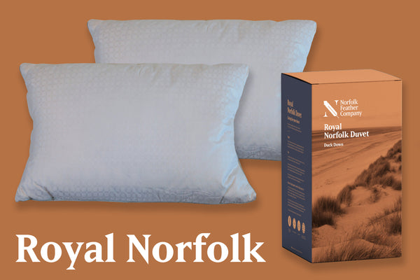 Royal Norfolk | Pillow Pair & Duvet Set | 13.5 Tog, Duck Down Surround Pillows and Royal Duvet