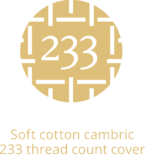 Soft cotton cambric 233 thread count cover