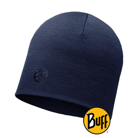 Merino Wool Thermal Hat Solid Navy