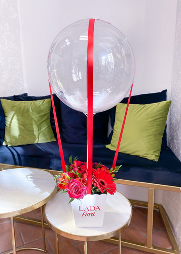 Flower Box Air Balloon Red