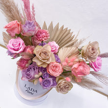 Load image into Gallery viewer, Maxi Flower Box hatbox Vertical Pink