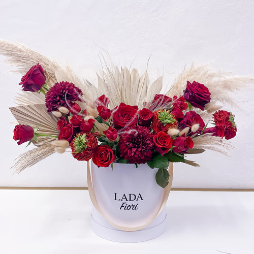 Maxi Flower Box hatbox Vertical Red