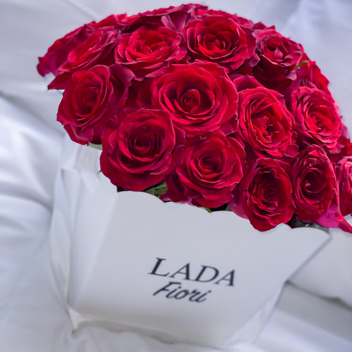 FLOWER BOX ROSE ROSSE