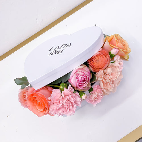 Cuore Pesca Flower Box