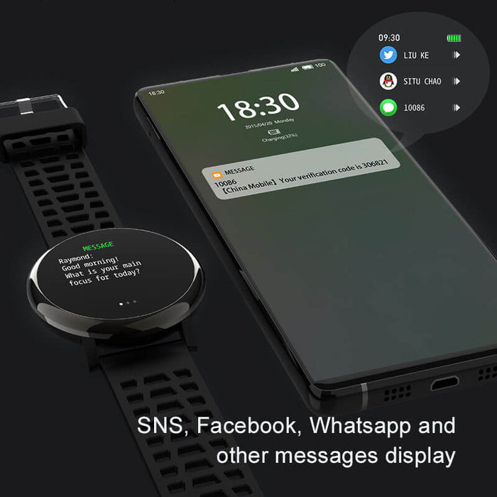 3D Curved Glass Smart Watch Heart Rate Detector | Aolon - aolon.id
