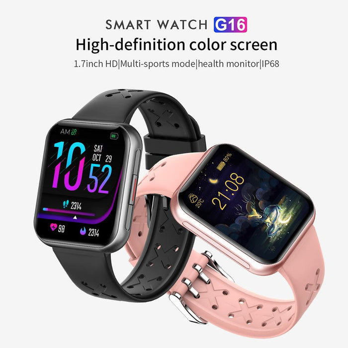 Aolon G16 Smartwatch 1.7 Inch Screen IP68 Waterproof Dynamic Heartrate Health Monitoring