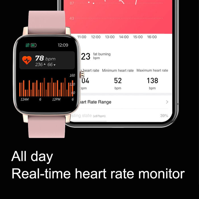 Aolon H80 Smartwatch 1.7 Inch Screen Custom Dial Waterproof Heart Rate Monitor