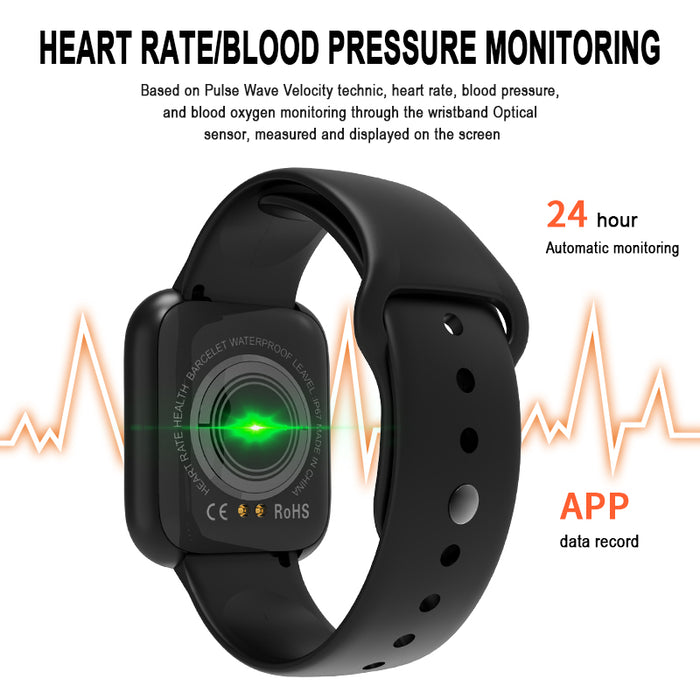 i5 series fitness tracker heart rate touch screen smartwatch aolon