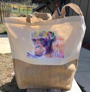 CSNW Foxie Recycled Cotton Canvas & Jute Tote Bag
