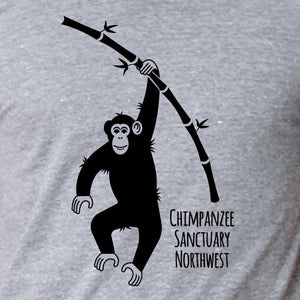 CSNW Chimp w/ Bamboo Heather Ash Unisex Tee
