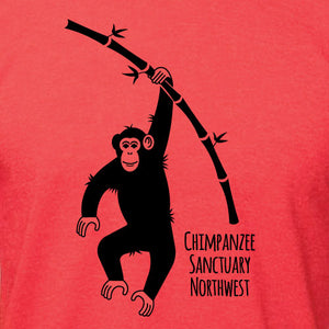 CSNW Chimp w/ Bamboo Heather Tomato Unisex Tee