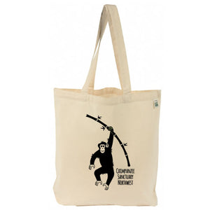 CSNW Chimp w/ Bamboo Recycled Cotton Canvas Tote Bag