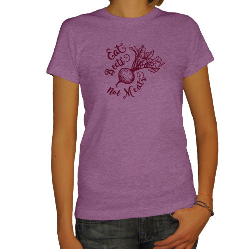 Eat Beets Not Meats Ladies Eggplant Tee