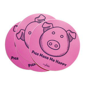 "Pigs Make Me Happy 4"" Decal"