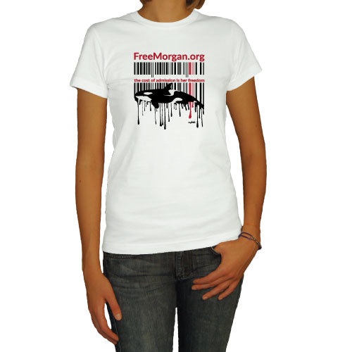 Free Morgan Foundation UPC Code Unisex White Short Sleeve Tee