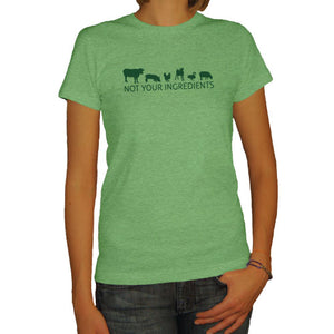 Not Your Ingredients Heather Kiwi Ladies Tee