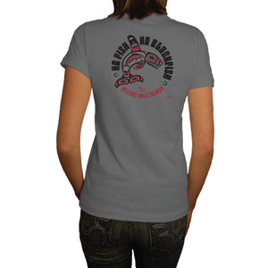 Orca Network No Fish No Blackfish Short Sleeve Heather Ash Unisex Tee