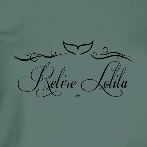 Orca Network Retire Lolita Scrip Sage Green Ladies V-Neck