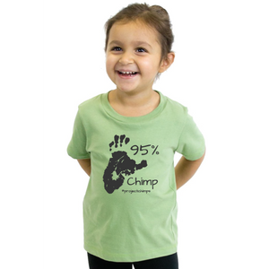 Project Chimps 95% Toddler Tee in Avocado