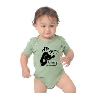 Project Chimps 95% Baby Onesie in Avocado