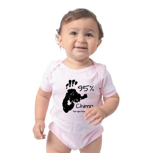 Project Chimps 95% Baby Onesie in Pink
