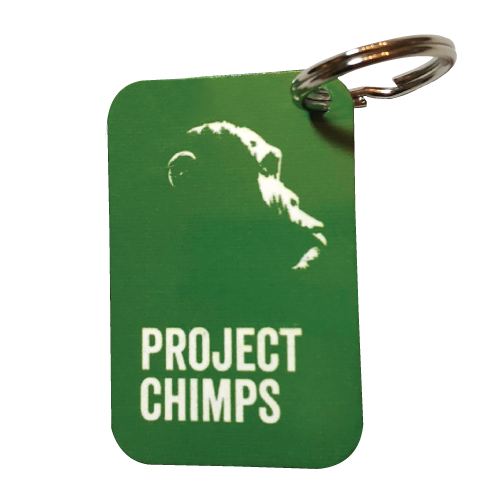 Project Chimps Metal Keychain