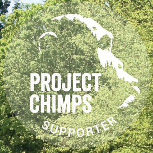 "Project Chimps Supporter 6"" Window Cling"