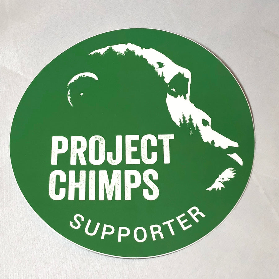 "Project Chimps Supporter Logo 3"" Decal"