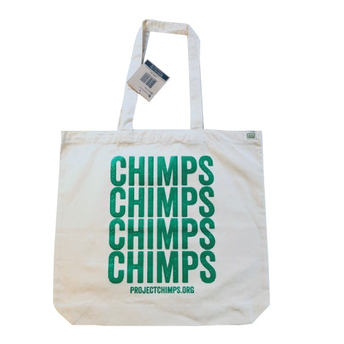 Project Chimps Repeat Recycled Cotton Canvas Tote Bag