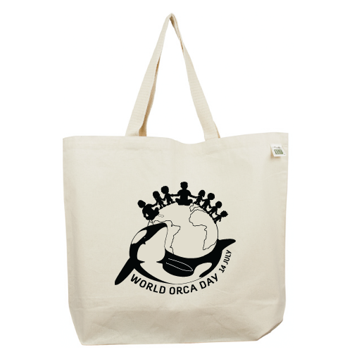 World Orca Day Recycled Cotton Canvas Tote Bag