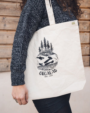 Orcalab Rubbing Orca Recycled Cotton Canvas Tote Bag
