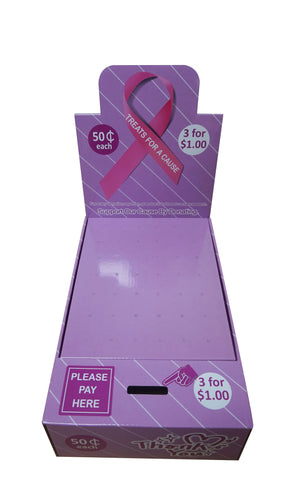 Pink Ribbon Charity (Breast Cancer) Honor Boxes  (50¢ each or 3 for $1.00 listed on price tag)