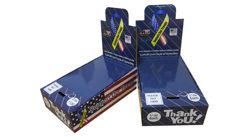 Support Our Troops Military Charity Honor Boxes  (50¢ each or 2 for $1.00 listed on price tag)