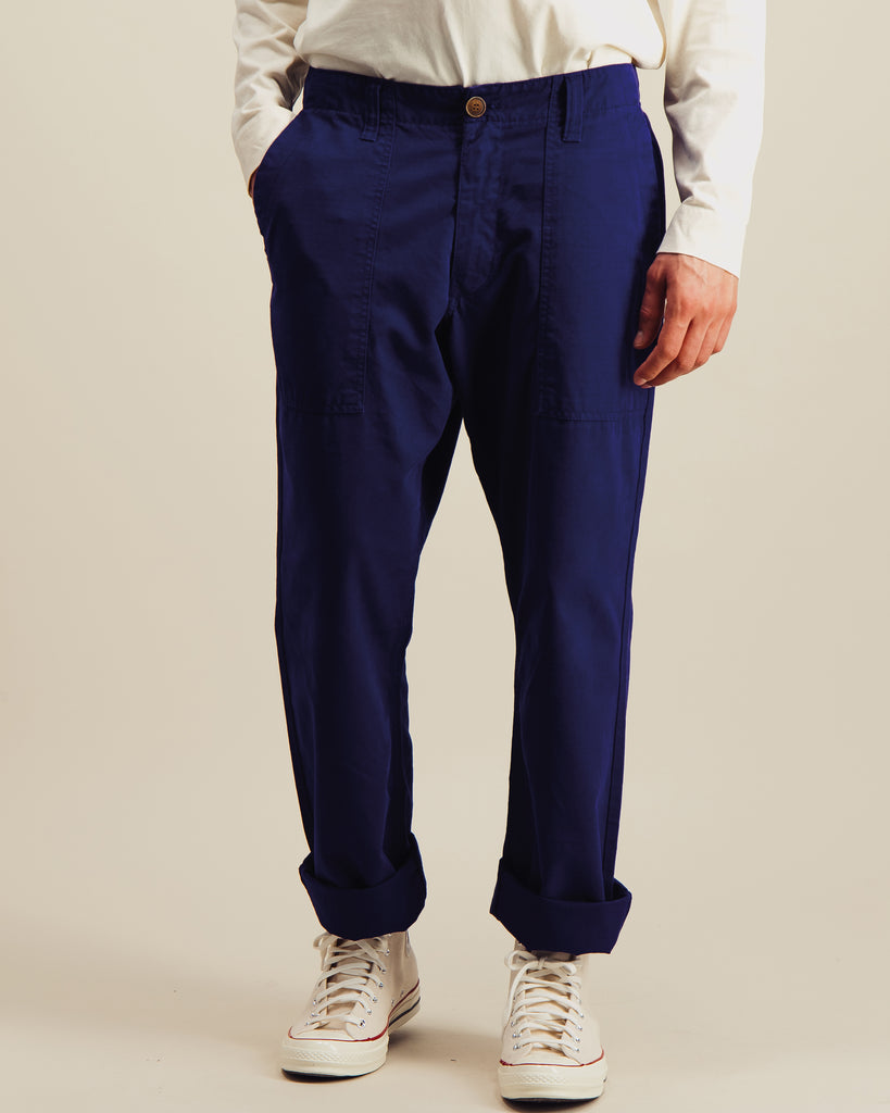 Pantalon Fatigue Ripstop indigo