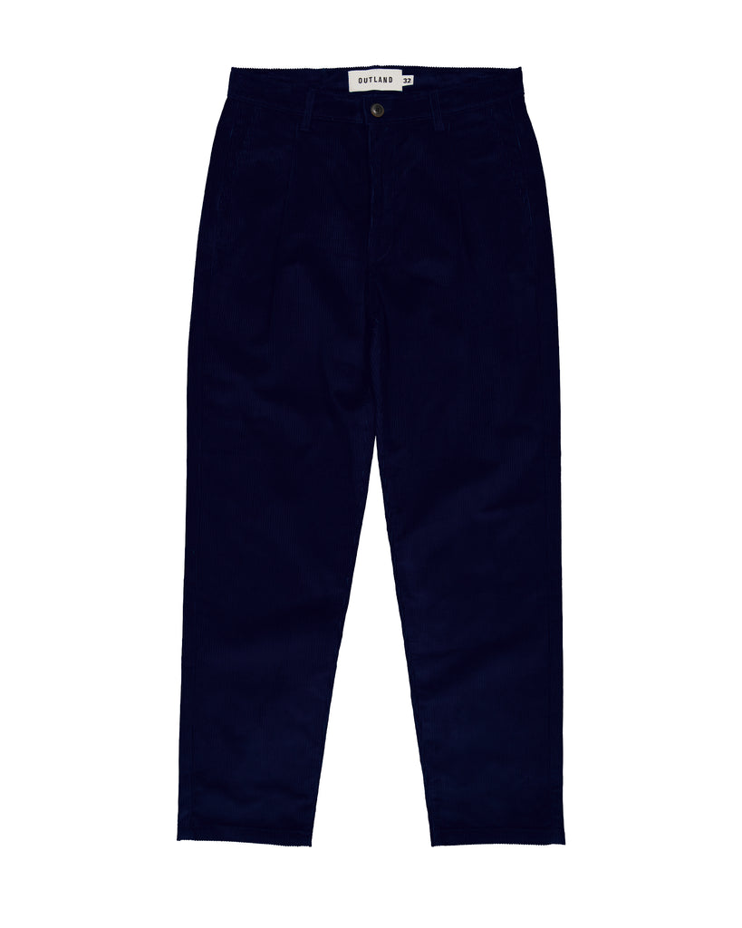 Pantalon Pleats Cord marine