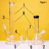 two bongs one martini one beaker 8 steps