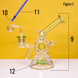 green tip dab rig recycler steps 9 to 12