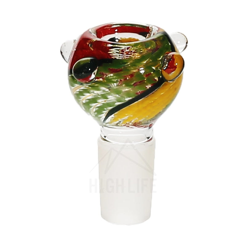 19Mm Full Rasta Swirl Marbles Bowl Accessories
