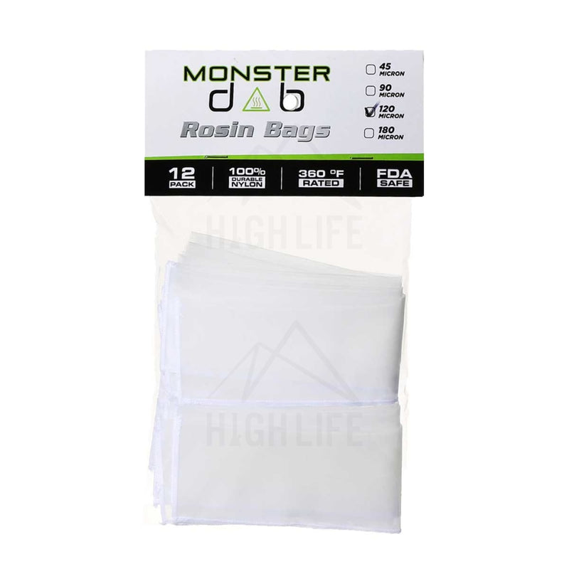 2 X 10 120 Micron Monster Dab Rosin Bag - 12 Units Extraction